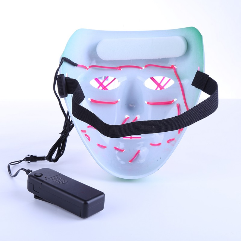 Dropshipping El Wire Mask Light Up Neon Skull Led Mask For Halloween Party 2018 Theme Cosplay Masks Ship From Us Costumes & Accessories