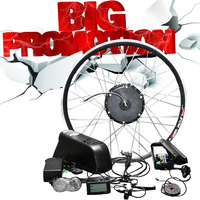 48 v 리튬 배터리 전기 자전거 키트 350 w 500 w 허브 모터 휠 26
