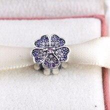 ZMZY Bijoux CZ 925 En Argent Sterling Trèfle Perles Symbole de chanceux En Amour Coeur Charme Pave Cristal fit Pandora Bracelet bijoux