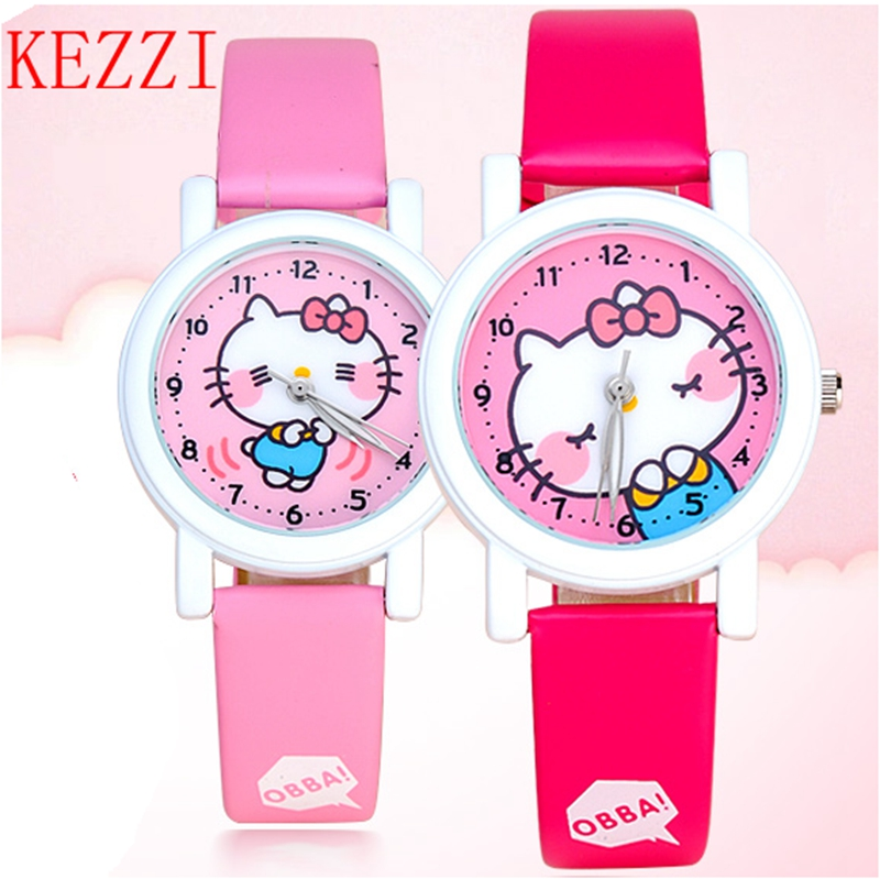 New Cartoon Children Watch Girl boy  Watches Fashion Girl Kids Student Cute Leather Sports Analog Wrist Watches cartoon children watches fashion girl bear pattern kids waterproof watch cute student leather strap wrist watch relogio
