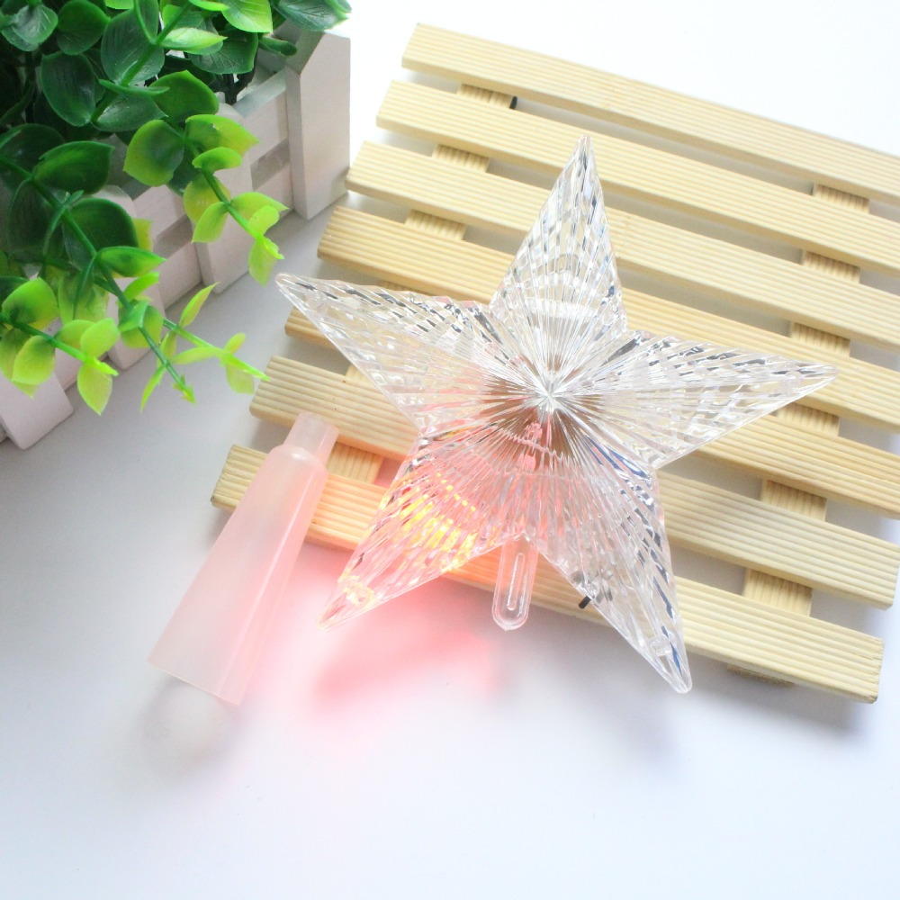 3 Sizes Christmas Tree Toppers Star Lights Ornament Xmas Decoration for Home Party Wedding Garden Holiday DIY Supplies