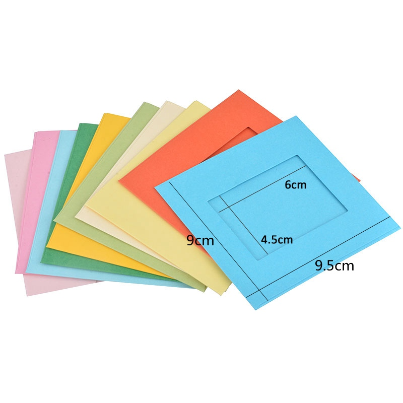 1Set Paper Photo Frame Wall Picture Album 3 Inch Creative Gift DIY Wall Hanging Paper Photo Frame Home Decoration Clips & Frame