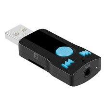 MP3 Громкая Связь Bluetooth 3.0 + EDR Музыка Аудио Стерео Приемник 3.5 мм A2DP Адаптер USB Беспроводной Приемник 5 В/20 Гц-15 КГц Поддержка SD