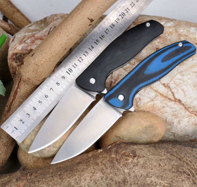 59-60HRC Folding Knife 9Cr15Mov Sanding Blade G10 Handle Pocket Survival Knives  F3 Hunting Tactical Knife Camping Outdoor Tools