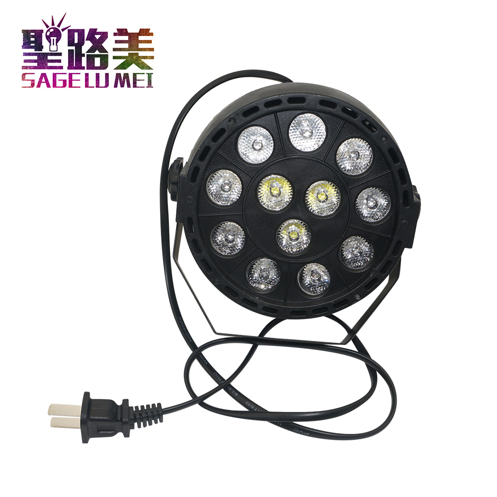 12*3w led RGB par light stage light DMX512 Led Flat DJ Equipments Controller for Party disco DJ and Holiday Lighting
