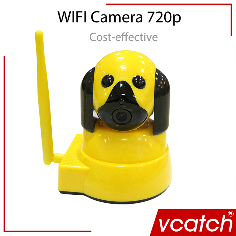 imágenes para Vcatch 720 P HD Perro Inteligente Cámara IP Wireless CCTV P2P bebé Monitor de la Cámara Wifi P/T Micro Tarjeta Onvif H.264 Home seguridad