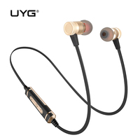 UYG U77wireless Bluetooth Earphones Sport Running Bluetooth Headset Stereo CRS Headphone With Microphone Mic For Mobile