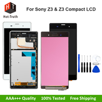 Hot Truth Screen LCD For Sony Xperia Z3 Compact Display For Sony Z3 & Z3 Mini D5803 D5833 Touch Screen Digitizer Assembly+Frame