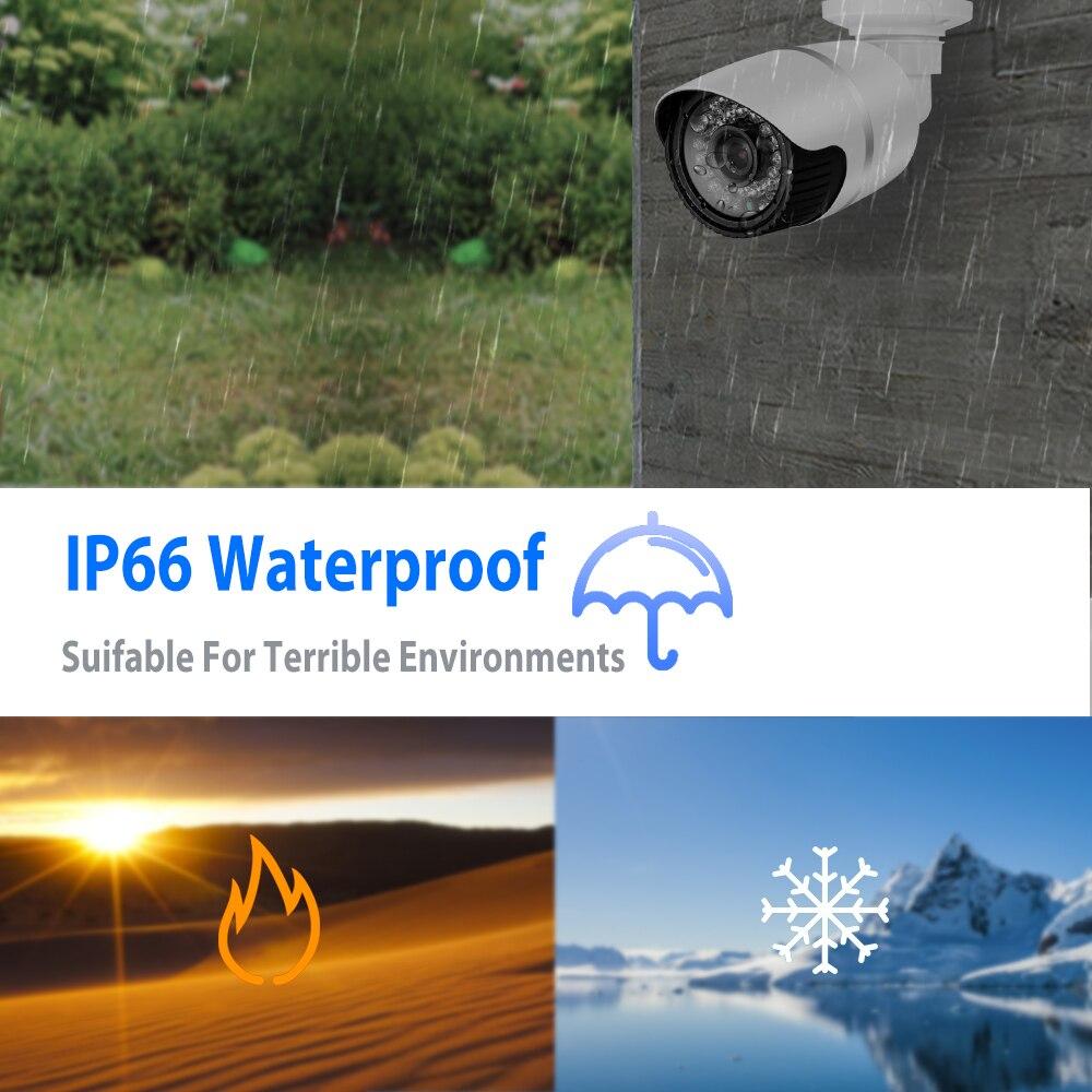 BFMore H.265 5.0MP WIFI caméra IP sécurité extérieure étanche réseau de Surveillance CCTV caméra IR Vision nocturne Onvif 2.1 câblé - 6