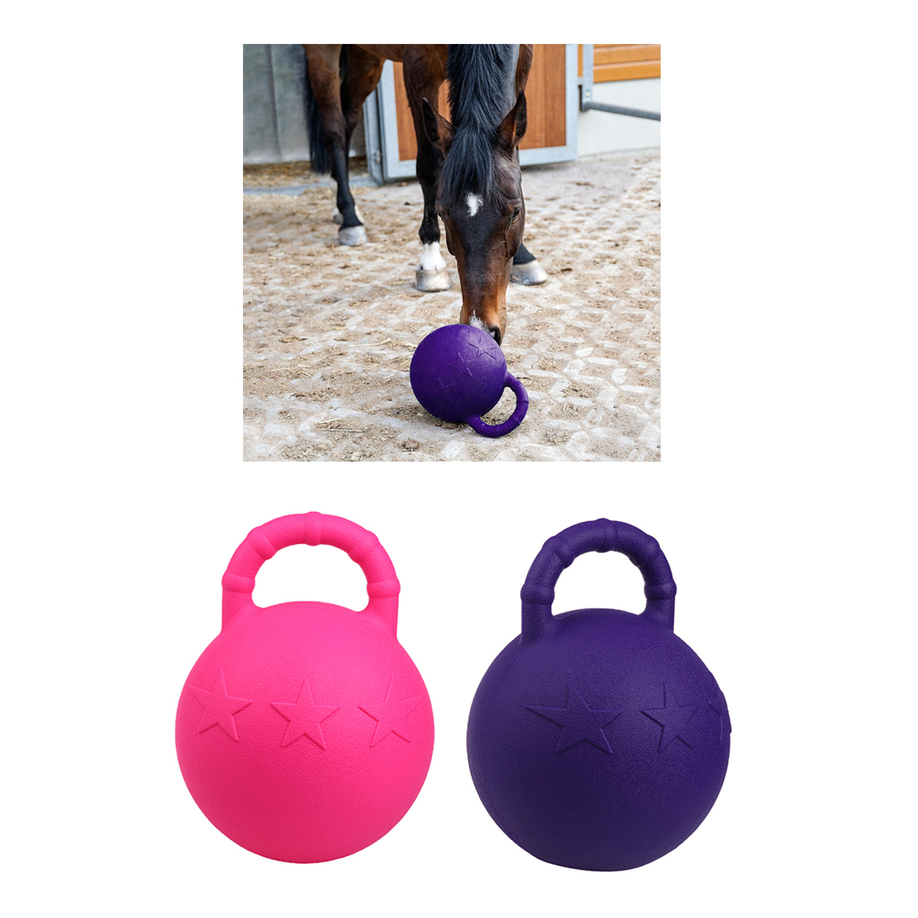 2Pcs Rubber Equine Play Toy Ball Heavy Duty Horse Pony Apple Scented Chew Ball 11inch