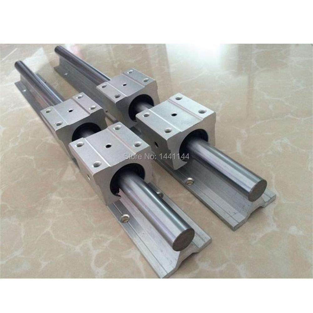 6 Unidades SBR16 SBR20 riel lineal de guía + husillos a bolas RM1605 SFU1605 bola tornillos + BK/BF12 + tuerca de la vivienda + acopladores para CNC - 2