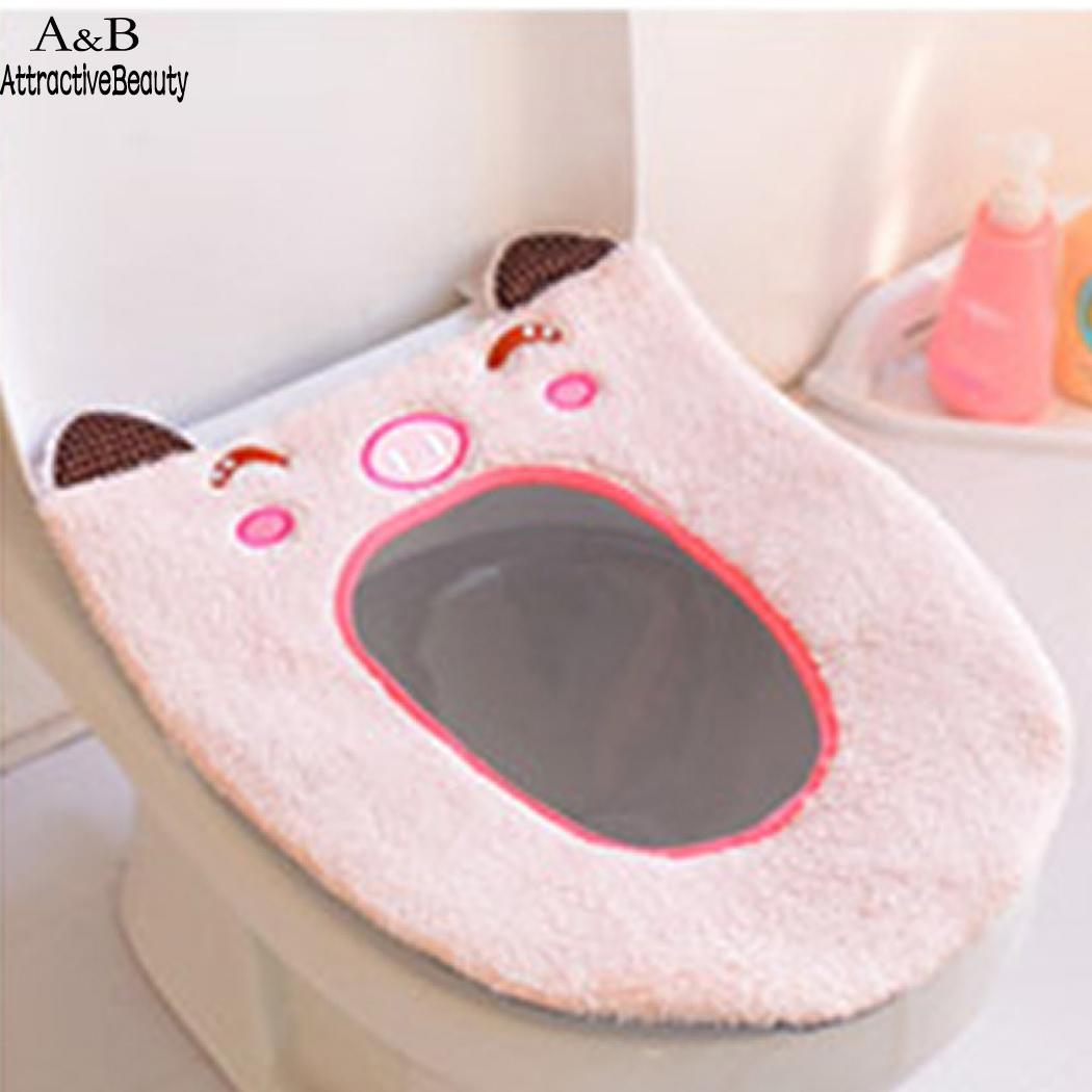 Новый Ванная комната моющиеся теплые мягкие туалет Closestool сиденья Крышка Мат Подушка Pad