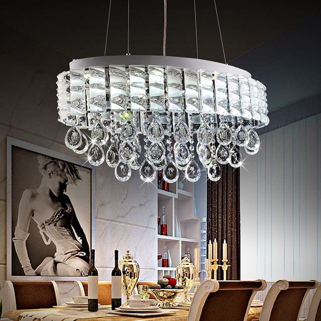 Aliexpresscom Buy Modern Lustre LED Oval Crystal  : Modern Lustre LED Oval Crystal Chandeliers Luxury Crystal Pendant Lamps Restaurant Light Fixture Dining table Lightingjpg640x640 from www.aliexpress.com size 640 x 640 jpeg 145kB