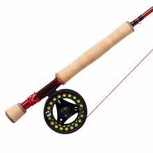 Angler Dream 3/4/5/8WT Fly Rod Combo 36T Carbon Fiber Fly Fishing Rod Large Arbor Fishing Reels & Fly Line Backing Leader