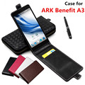 Classic Luxury Advanced Top Leather Flip Leather case For ARK Benefit A3 / ARK A 3 Phone Cover Case With Card Slot
