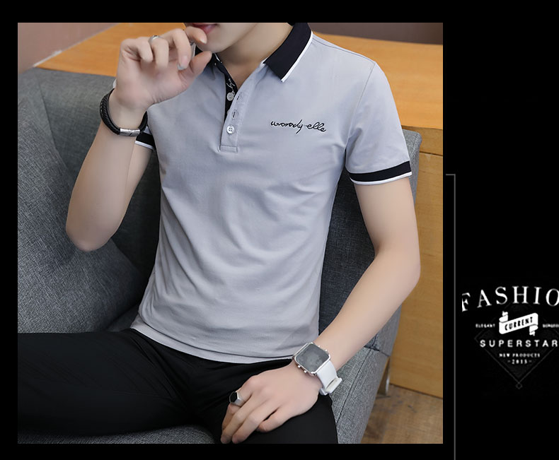 Short-sleeved T-shirt men's fashion casual cotton clothes decorated with multi-color optional 99