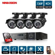 4CH CCTV Системы 1080P Full HD 4CH DVR 4 шт. 1.0MP 2000TVL Пуля безопасности Камера 24 шт. ИК светодио дный открытый дом наблюдения системы