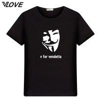 2017 mode männer t shirts V wie vendetta lustige gedruckt t-shirt kurzhülse Oansatz t-shirt casual tops männlich kühlen t-shirts