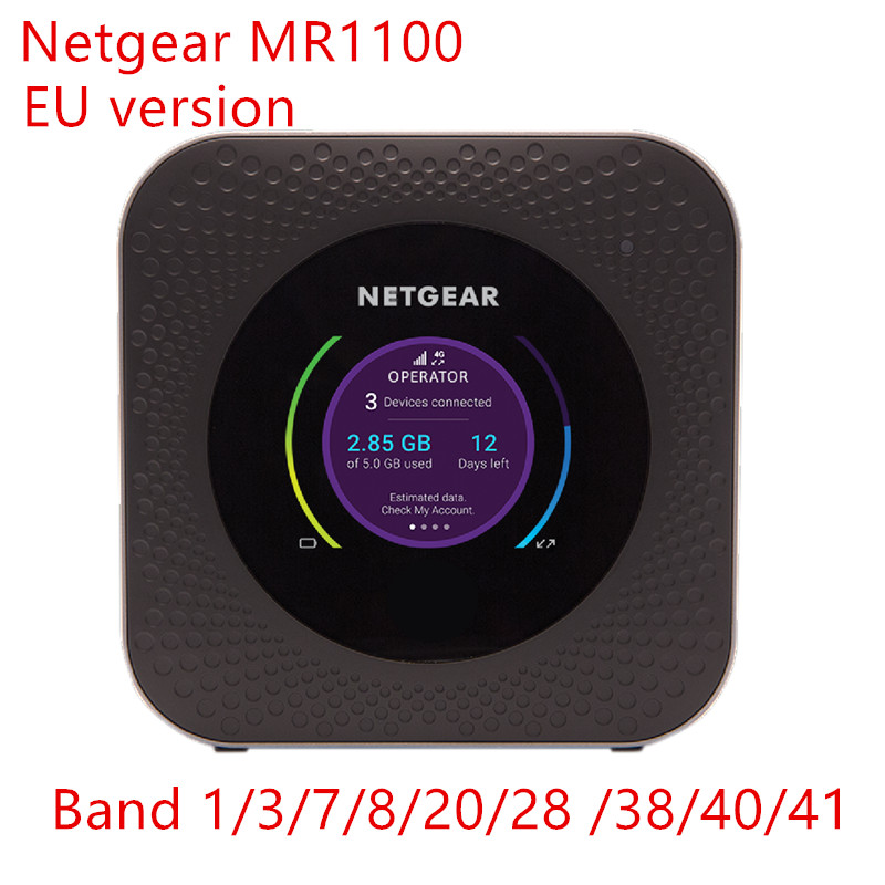 Desbloqueado Netgear Bacurau M1 MR1100 CAT16 4GX Gigabit LTE Roteador Móvel banda 28 UE versão Wi-fi Hotspot Router 5040 mah portátil