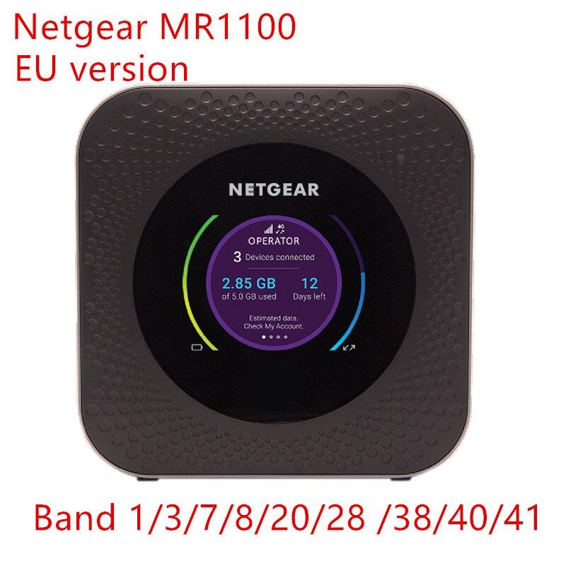 Sbloccato Netgear Nighthawk M1 MR1100 CAT16 4GX Gigabit LTE Mobile banda Router 28 UE versione WiFi Hotspot Router 5040 mah portatile