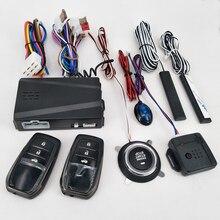 12V Alarme de Carro Bloqueio Automático Central Botão Start Stop Keyless Passiva PKE Automotivo Um Botão Iniciar O Controle Remoto sistema
