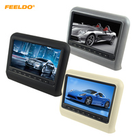 FEELDO 1PC 9 Inch (16:9 )Car Headrest Monitors Digital LCD AV HD Monitor Remote Control 3 Color