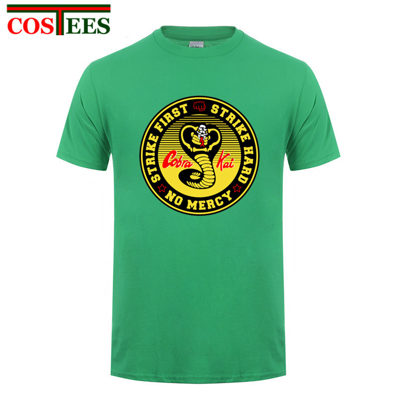 3a6e828f3 Product name: Vestido Vintage verano 2018 Cobra Kai T shirts men Karate T-shirt  Cool black mamba fashion cosplay costume Kobe Bryant Tee shirt