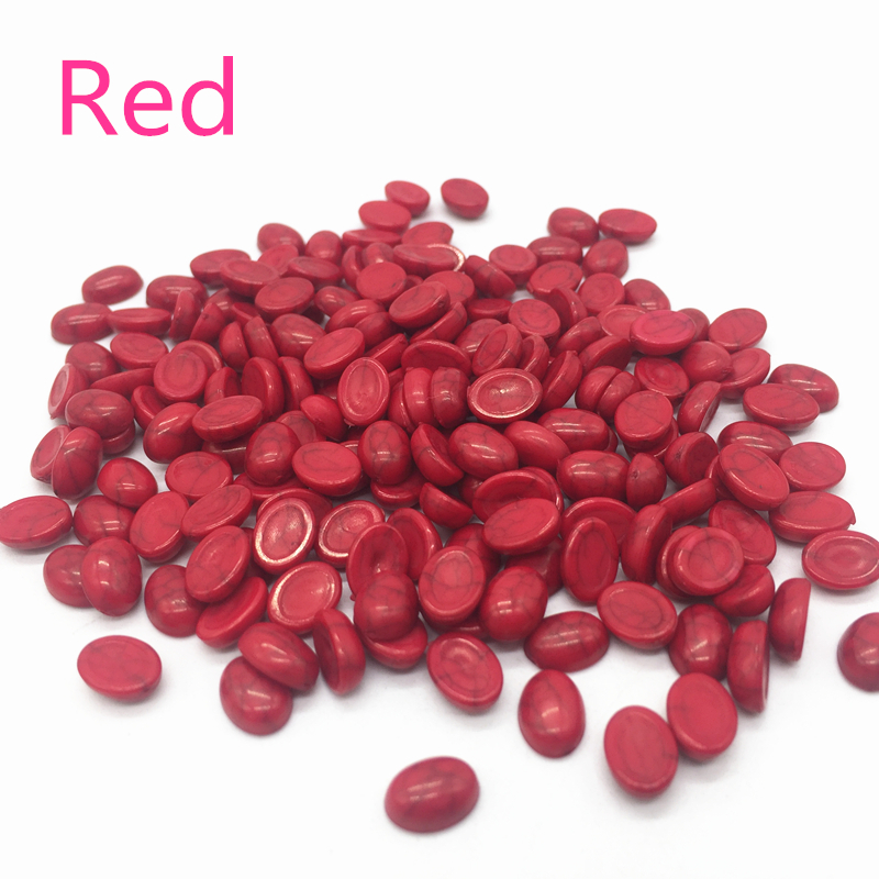 Beads & Jewelry Making 50pcs/lot Size 6x8mm Red Acrylic Half Oval Imation Pearls Beads Flatback Nail Art Decorate Diy Special Buy Beads