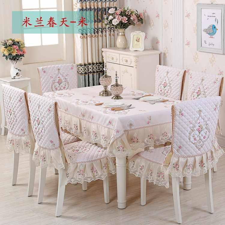 الحديثة البساطة الطعام سماط غطاء مقعد عالية الجودة عدم الانزلاق قماش طاولة مربع وسادة سميكة الجدول الديكور مجموعة