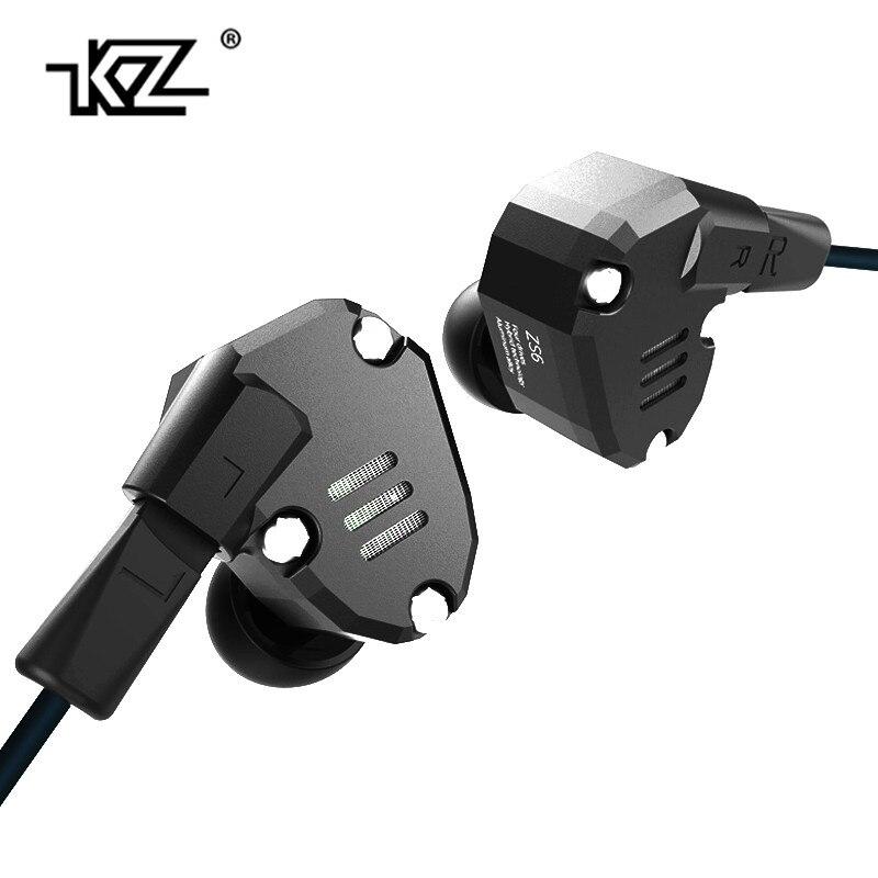 KZ ZS6 2DD + 2BA Hybrid In Ear Auricolare HIFI DJ Monito Esecuzione Sport Auricolari Earplug Headset Auricolare Due Colori