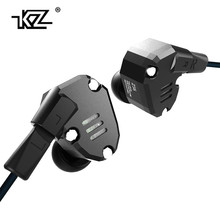 Original KZ ZS6 2DD+2BA Hybrid In Ear Earphone HIFI DJ Monito Running Sport Earphones Earplug Headset Earbud Two Colors
