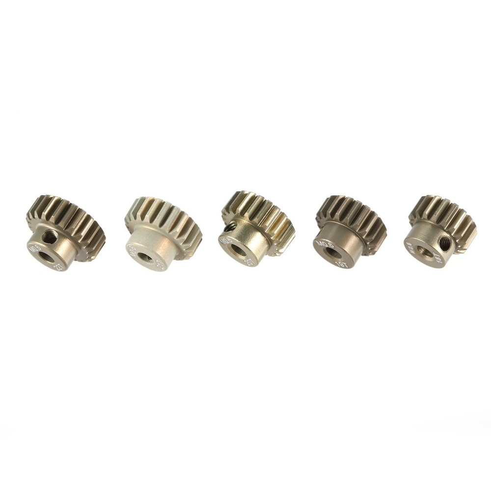 Image 5 - SURPASS HOBBY M0.6 5Pcs 3.175mm 13T 14T 15T 16T 17T 18T 19T 20T 21T 22T Metal Pinion Motor Gear Combo Set for RC 1/8 1/10 Car-in Parts & Accessories from Toys & Hobbies