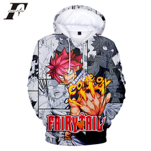 3D Hoodies Sweatshirt Fairy-Tail Japanese Anime Clothing Pullovers Autumn Men Hip-Hop