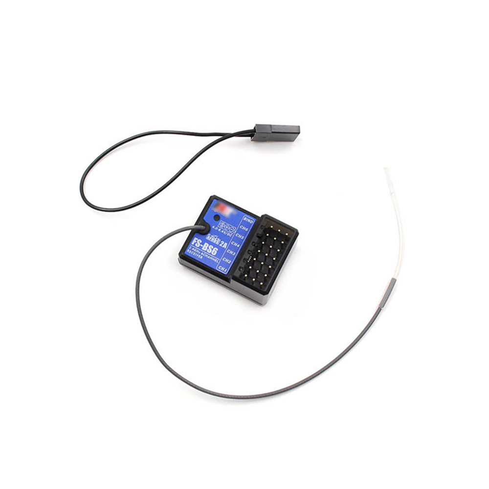 for Flysky FS-BS6 6CH 6 Channels Receiver Fail-Safe for FS-GT5 FS-IT4S Transmitter RC Car Boat Receiver Accessories