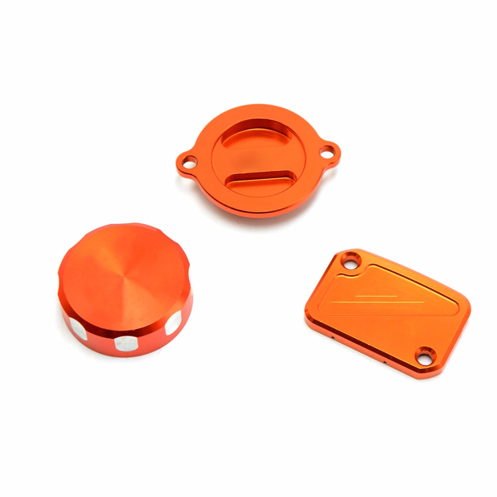 Orange Motorcycle Accessaries CNC Aluminum Front Brake Fluid Reservoir Cover Cap Suit For KTM DUKE125 DUKE200 DUKE390 DUKE 125 for ktm duke 200 390 690 duke200 690 new pattern orange motorcycle front brake pump fluid reservoir cap cover modified parts