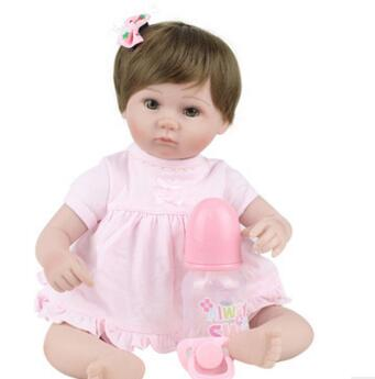 silicone baby reborn cowgirl baby early love cute realistic silicone reborn babies born baby girl soft home interaction toys new 2015 cowgirl