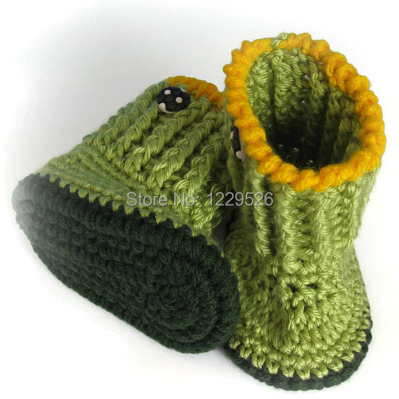 Ganchillo del bebé botines Botas, Zapatos del muchacho, Invierno ...
