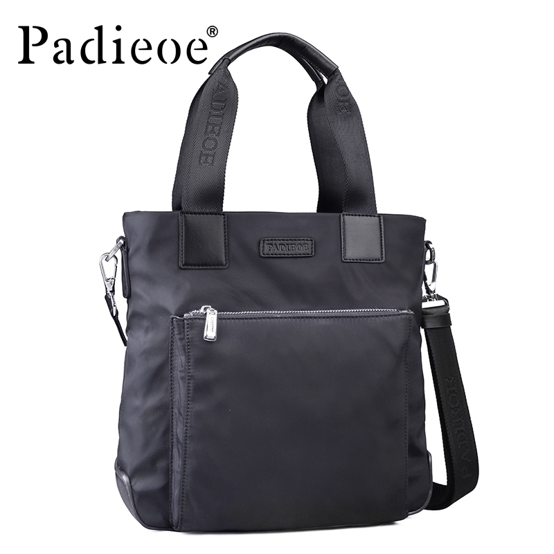 Padieoe High Quality Waterproof Nylon Briefcase Fashion Durable Men's Casual Tote Shoulder Bag Hot Sale Business men Briefcase padieoe men s waterproof shoulder bag casual tote bag nylon messenger bags business handbag briefcase for male nb160749 2