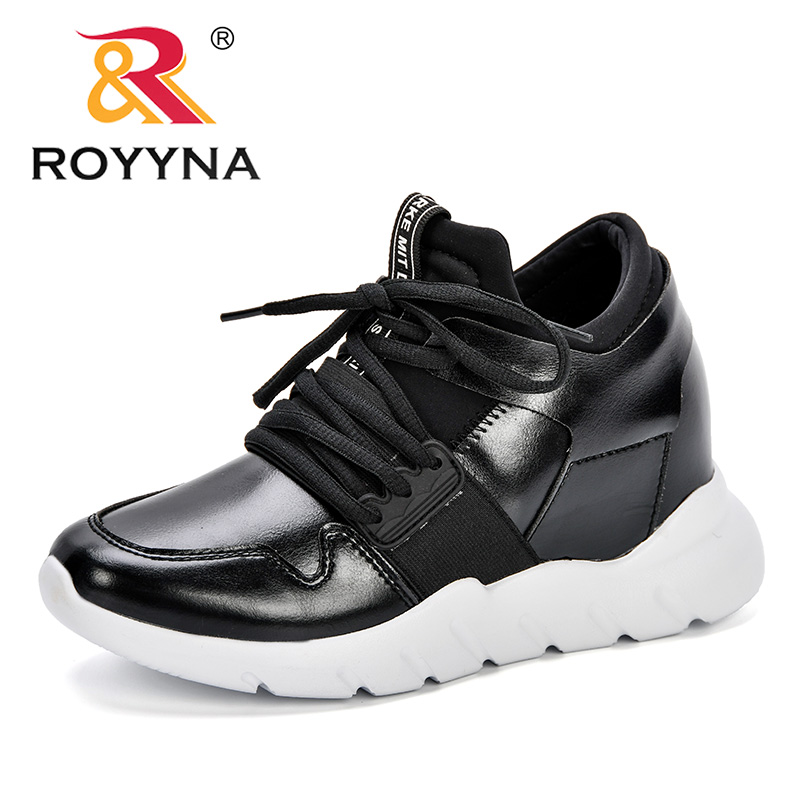 ROYYNA 2018 Women Sneakers Shoes Fashion Casual Shoes Lady Colors Microfiber Comfortable Shoes Wedges Zapatillas Mujer Trainers