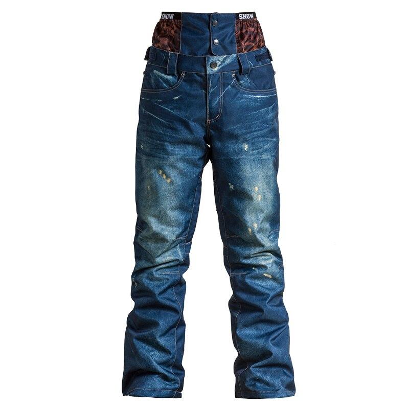 2018 GSOU pantalon de Ski de neige imperméable coupe-vent pantalon de ski pour les femmes Outdoo femmes pantalon de Snowboard pantalon de Ski d'hiver