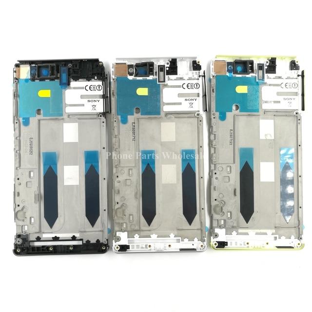 For Sony Xperia XA Ultra F3211 F3215 F3212 F3216 Dual Sim Original Middle Front Frame Bezel Housing + Sim SD Plug Block Cap