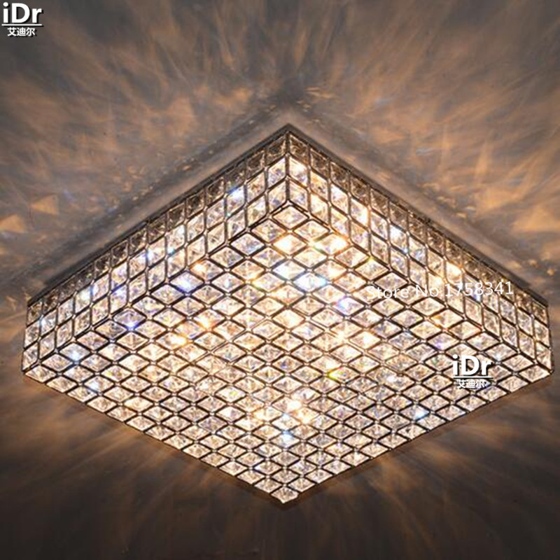 Image 3 - Living room lamps crystal lighting master bedroom room square headlights minimalist atmosphere Ceiling Lights Rmy 0491-in Ceiling Lights from Lights & Lighting