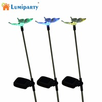 LumiParty Butterfly Solar Pathway Lighting Garden Stake Lights Color Changing Outdoor Decor Lawn Yard Path Decorative