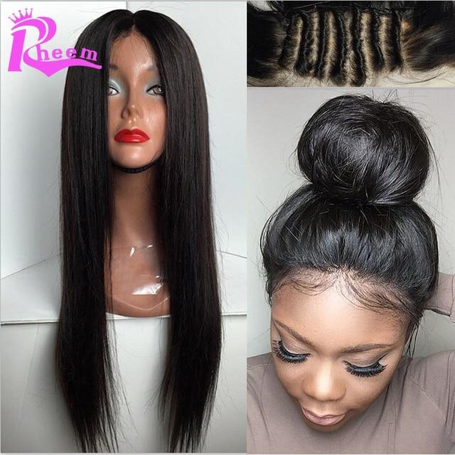 Brazilian Glueless Silk Top Full Lace Wigs 4x4 Silky Straight Full Lace  Human Hair Silk Base 35a07b358c