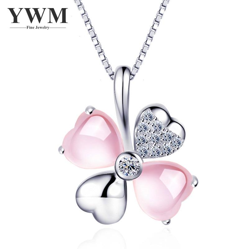 Տերևի մանյակ YWM 925 արծաթե 4 տերև - Նուրբ զարդեր - Լուսանկար 1