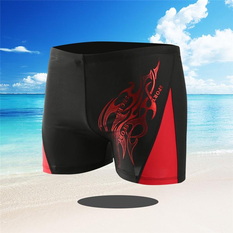 Elastic-Pants Boxer Swim-Shorts Swimming Boys Sport 4zg Drawstring Independence-Day Men's