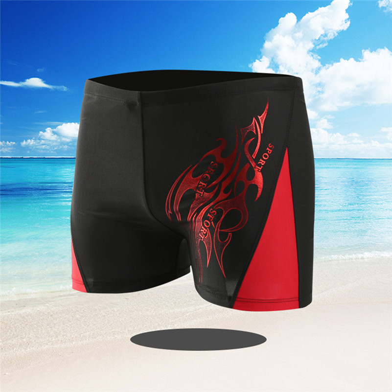 Elastic-Pants Boxer Swim-Shorts Independence-Day Swimming Sport Boys 4zg Drawstring Men's title=
