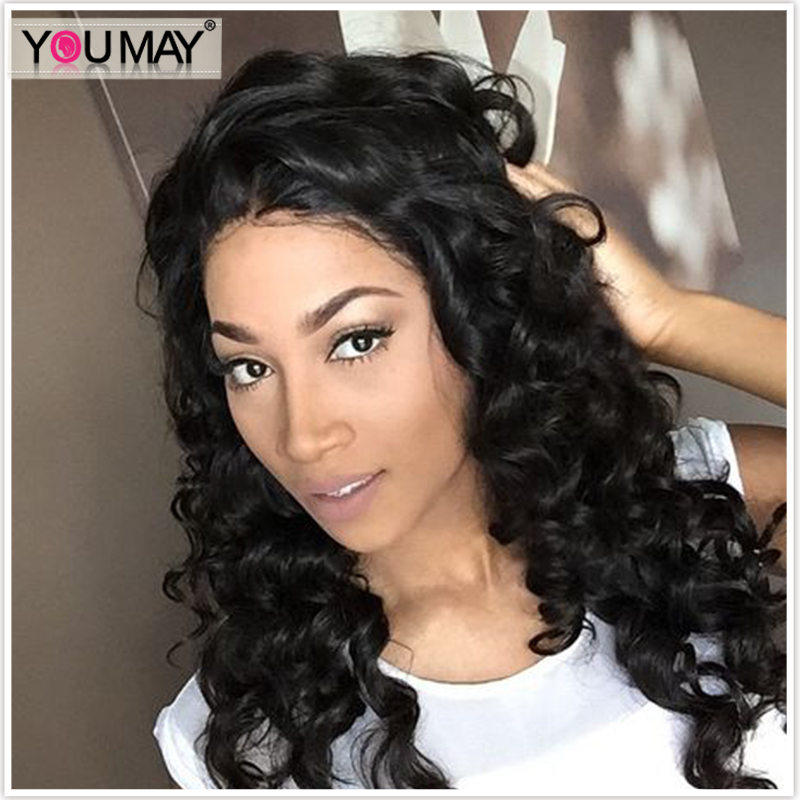 Loose Wave Full 360 Lace Frontal Wig Pre Plucked With Baby Hair 150% Density Brazilian Remy Wigs 360 Full Lace Wig Human Hair Hair Extensions & Wigs
