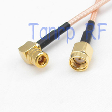 6in RP SMA male plug to SMB female right angle RF adapter connector 15CM Pigtail coaxial jumper cable RG316 extension cord