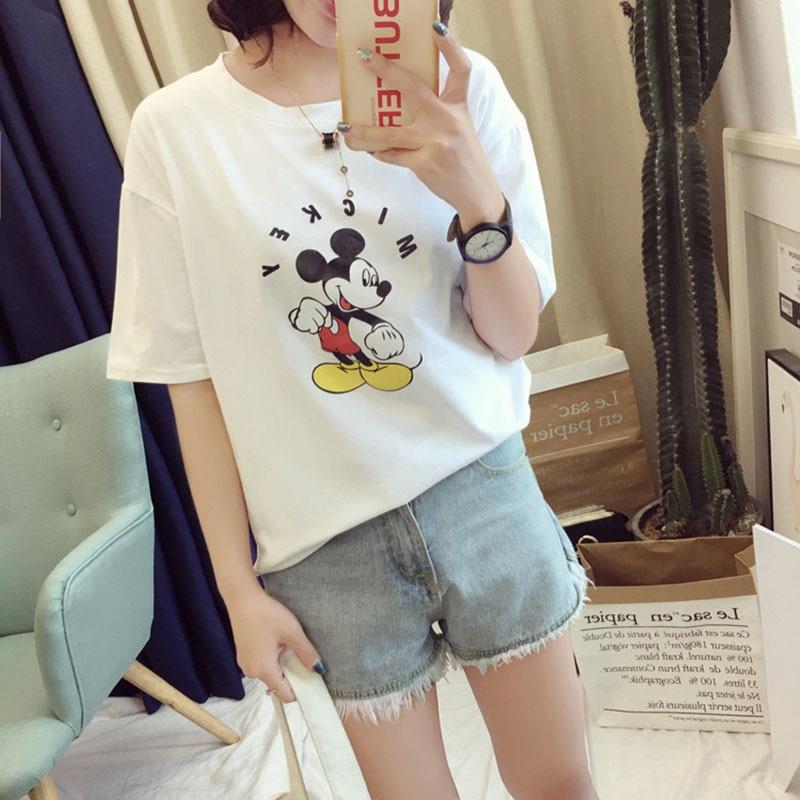 Trendy Popular Summer Woman Fashion Ulzzang Funny T Shirts Women Casual O Neck Short Sleeve Cartoon Animal Print T shirt Femme in T Shirts from Women 39 s Clothing